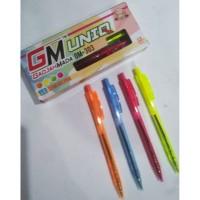 Ballpoint / Pulpen GM Cetek ( Casing warna Tinta Hitam )