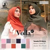 Hijab Jilbab Kerudung Segiempat Voila Laser Cut Polos by Umama uk 110