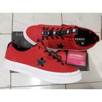 Sepatu Casual Converse Cons One Star Hello Kitty Red Original
