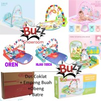 Mainan Bayi Baby Gym Play Set Musik Playgym Playmat Matras Piano