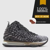 Sepatu Basket Original Sepatu Nike Lebron XVII - Black/White