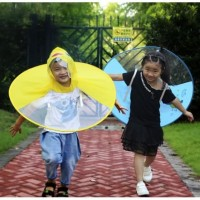 Jas Hujan Anak Ufo Bentuk Topi Jas Hujan Anak Lucu