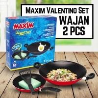 Maxim Valentino Cookware Set Paket Kuali Wajan Penggorengak Sutil