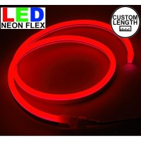 Lampu Led neon flex Rope light Custom Warna merah / Red meteran