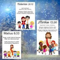 STIKER ROHANI KRISTEN UNTUK ANAK SEKOLAH MINGGU BELAJAR ALKITAB (A)