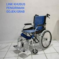 Kursi Roda Travel Aluminium/Kursi lipat mudah dibawah (JML -02)