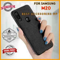SAMSUNG GALAXY M20 M 20 MOFI FABRIC ORIGINAL HARD CASE JEANS SILICONE