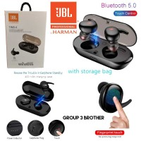 Headset Bluetooth V5.0 JBL TWS -4 Wireless Earbuds Stereo