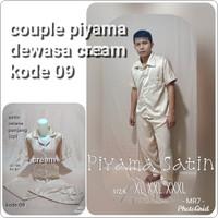 piyama couple dewasa / baju tidur / piyama satin