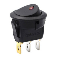 Saklar toggle rocker on/off bulat 12v anti air plus led indikator 3 ka