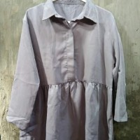 Baju Atasan Kemeja Warna Abu Tua New