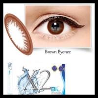 Softlens X2 Bio Black Shakyra & Brown Byonce Normal/Minus Termurah