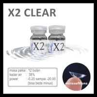 Softlens X2 Clear -0.50 S/D -20.00 (Sepasang) (Depkes) (65099001)