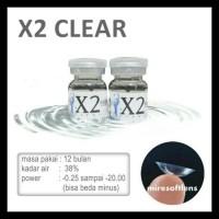 Softlens Khusus Minus Tinggi X2 Clear -10.50 Sampai -20.00