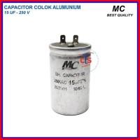 Kapasitor (capacitor) Ac 15 Uf V (spare - Aluminium 250