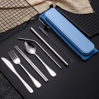 Terlaris Set Peralatan Makan Bahan Stainless Steel dengan Kotak