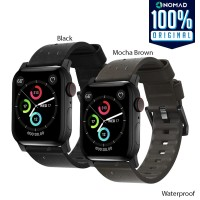 Strap Apple Watch 44mm / 42mm Nomad Leather Waterproof Modern Band