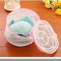 Laundry Bag Bra BH CD Bahan Tebal Double Layer Zipper Mesin Cuci