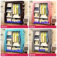 Lemari pakaian ( 2 sekat ) rak baju multifunction rack R-07