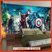 3D Wallpaper Dinding Wall Sticker Custom Avengers