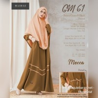 Gamis Premium Set Hijab HaiHai GM 61 Warna Pastel Mocca Busui Syar'i