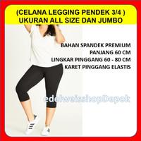 Leging Pendek 3 4 Lejing Celana Legging Polos Wanita Senam Aerobik