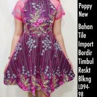 Dress Brukat Poppy Bordir New Import Purple