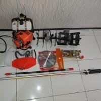 paket mesin Potong Rumput,pengembur,penyiang ,mesin steam Robotech