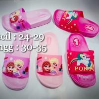 Sandal Selop karet Prozen untuk anak perempuan