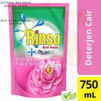 Deterjen Anti Noda Rinso Cair +Molto Rose Fresh 800ml (Warna Pink)