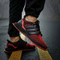 Adidas Ultra Boost 4D Solar Red Sneakers For Man Premium Original
