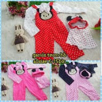 Baju Muslim Anak Bayi Perempuan Overall Baby Set Jilbab Minnie Mouse