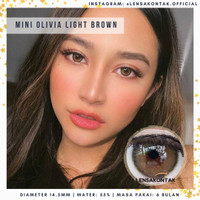 Softlens Mini Olivia by Kitty Kawaii Light Brown/ Coklat terang