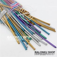 Balon Panjang / Pentil / Twist / Magic / Cacing warna Pastel Chrome