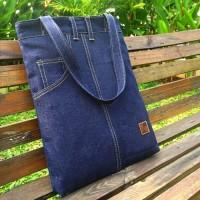 Tas Wanita / Tas Pria - Tote Bag Denim Jeans | [TB01V]