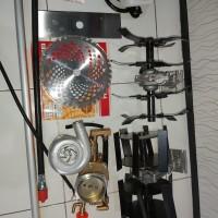 paket bg488 5 fungsi(pot rumput,penyiang,pengembur, mesin steam,pompa)