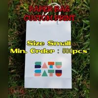 Paper Bag Custom Print/Size Small/Shopping Bag Premium/Paperbag Doff