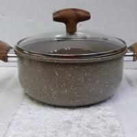 Viera Non Stick Marble Alumunium Casserola 20cm / Panci