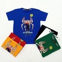 Pakaian Baju Atasan Kaos Anak Laki/Cowok SpiderMan Glow ( bukan kemeja