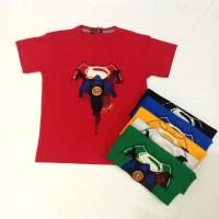 Pakaian Baju Atasan Kaos Anak Laki /Cowok SuperMan LED (bukan kemeja )