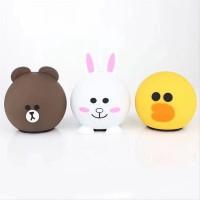 Speaker Bluetooth Karakter Line HK Hellokittiy Bebek Brown wireless