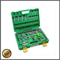 Tekiro kunci sock set 94pcs 1 4 1 2 box plastik socket set