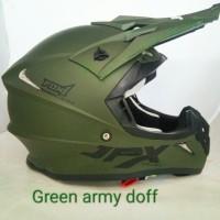 Helm jpx cross green army doff original