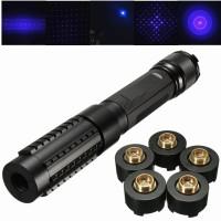 PR 445nm Blue Light Laser Pointer Pen Power Beam 5