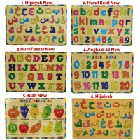 Promo Mainan Kayu Pintar Aneka Puzzle Kayu Edukasi Murah
