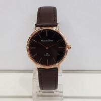 jam tangan alexandre christie ac 8625 wanita coklat rose gold original