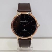 jam tangan alexandre christie ac 8625 pria coklat rose gold original