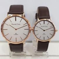 jam tangan alexandre christie ac 8625 couple rose gold original