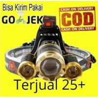Senter Headlamp Cree XM-L 3T6 10000 Lumens - IHT425H1