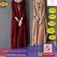 Dress Chacha bohemian/Dress wanita muslim/Gamis pastel cantik